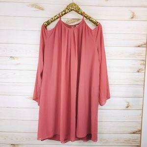 NWT Bar III Bronzed Rose Long Sleeve Dress